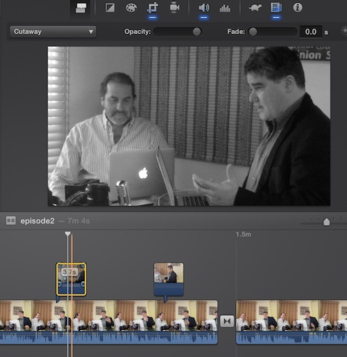 Cut away edits in iMovie