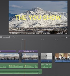 iMovie edits for the Opening sequence