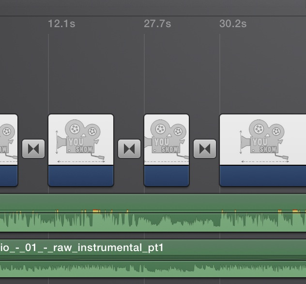 iMovie Tracks for opening sequence