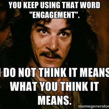 Engagement:  I Do Not Think It Memes What You Think It Memes