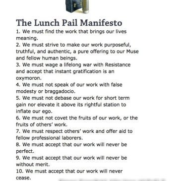 Lunch Pail Manifesto
